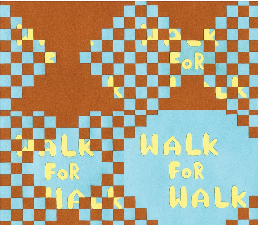 Animation still from Walk for Walk by Amy Lockhart