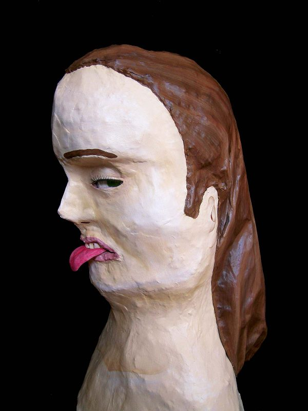 Amy Lockheart bust sculpture
